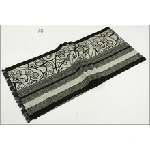 Men′s Womens Unisex Reversible Cashmere Feel Winter Warm Printing Thick Knitted Woven Scarf (SP811)