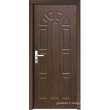 Porte d'intérieur en bois à motifs décoratifs (WX-PW-158)