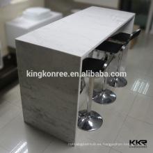 Mesa de consola de acrílico moderna con marco de metal
