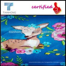 Ciervos impresión algodón satén/60JC dibujos animados satén de pigmento Impreso sarga para ropa de cama/impreso satén tela del lecho