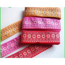 China Fornecedor Boa Qualidade Colorido Fita De Tecido Elástico Jacquard Fita
