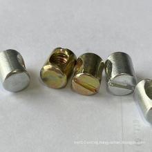 Cross dowel barrel nut brass