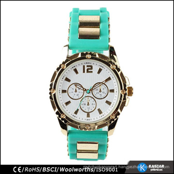 silicone wristband watch promotion geneva watches case