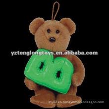 """Lovely con la letra """"B"""" peluche marrón rellena los juguetes del oso"""