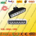Luz de trabajo LED Epistar de 18W para conducción de niebla Luz de conducción LED