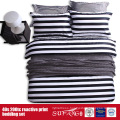 133*72 Printed Black White Bedding Set for Hotel/Home Use