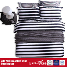 133 * 72 gedruckt schwarz weiß Bettwäsche-Set für Hotel / Heimgebrauch