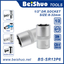 "1/2""Drive Paint Socket of Chrome Vanadium Steel Hand Tool"
