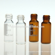 2ml 9-425 amber glass print screw thread labooratory vial