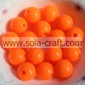 Grade A Acrylic Orange Shinny Imitation Plastic 6MM Round Light Beads