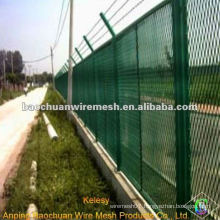 Steel plate anti - glare network for highway fence