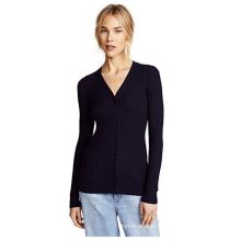 PK18A86HX Women 100% cashmere Cardigan Sweater