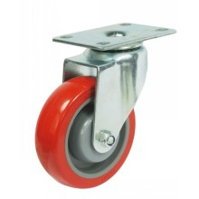 Swivel PU Caster Wheel (red)