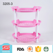 3 слоя многофункциональный полка эллиптических пластиковый уголок для продажи