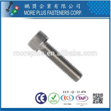Feito em Taiwan Stainless Steel DIN912 M2 Hex Screw Cap Screw Hexagon