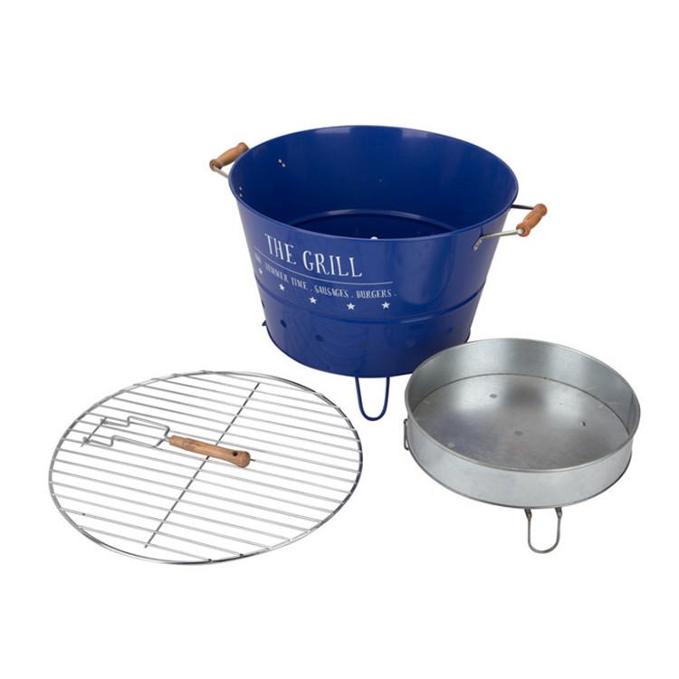 Round Bbq Portable Bucket