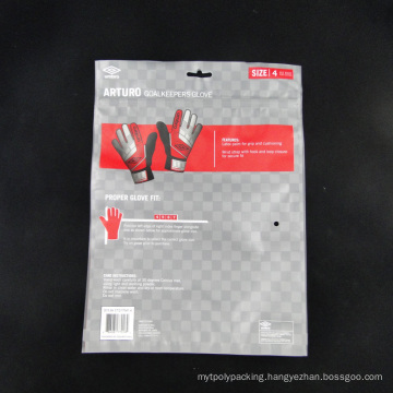 Custom Design Glove Packaging Bags with Zip Lock Resealable
