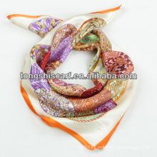 мода 100 шелковый квадратный шарф