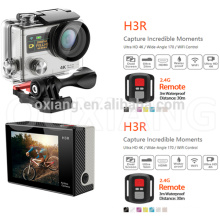 2.0 inch Ultra HD 4K 170 degrees Wide Angle Sports Camera dual screen 1080P/60fps action Camera wifi video camera H3R with Remol