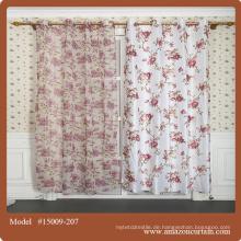 Hochwertige klassische Vorhänge Vorhang Polyester Gedruckt Vorhang Stoff Heimtextilien