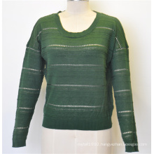 Casual Women Round Neck Fit Loose Pullover Knit Sweater