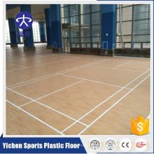 Revestimento de alta qualidade da corte de Badminton do assoalho dos esportes do PVC