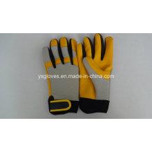 Work Glove-Cow Leather Glove-Safety Glove-Industrial Glove-Labor Glove-Machine Glove