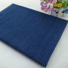 Stock Denim Fabric Cotton Yarn Dyed Indigo for Dress and Shirt
