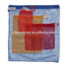 Bolsas de malla de almacenamiento / vegetales Bolsas de red de embalaje / frutas / reciclables