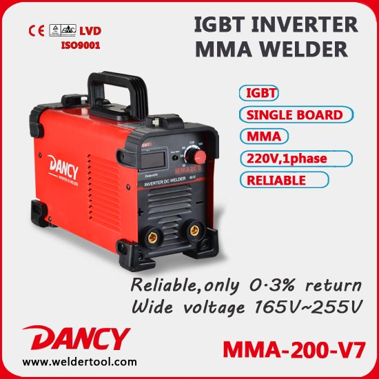220V DC MMA Mini Arc Welding Machine MMA-200