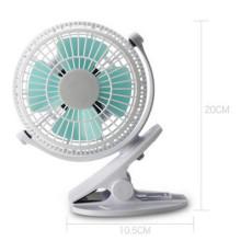 Ventilateur de mini-chargeur d'USB de vitesse de vent de 2 niveaux avec la bride -White