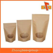 Bolsas de té de papel Kraft personalizado al por mayor con ventana
