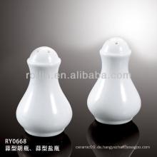 Gesunder, langlebiger weißer Porzellan-Ofen sicherer Salzstreuer