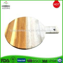 Placa de queijo de tábua de madeira de acácia elegante