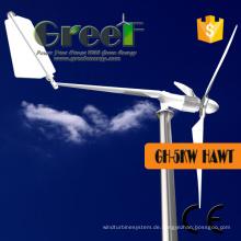 3 STÜCKE Klingen 5kw Low Rpm Wind Turbine mit Controller
