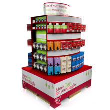 Convenient Cardboard Pallet Display Stand for Gifts, Corrugated Sidekick Display