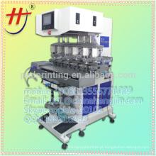 Alta precisão competitiva Price Pad impressora 6 cores de tinta copo máquina de impressão de almofada com transportador