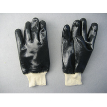 Neopren Vollbeschichteter weißer Strickhandgelenk Arbeitshandschuh (5340)