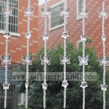 Lovely Crystal Butterfly Style Acrylic Beads Curtain