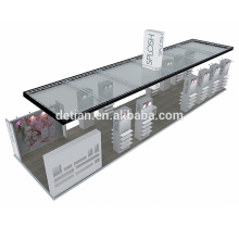 Detian offer trade show booth modular shelf display exhibition design