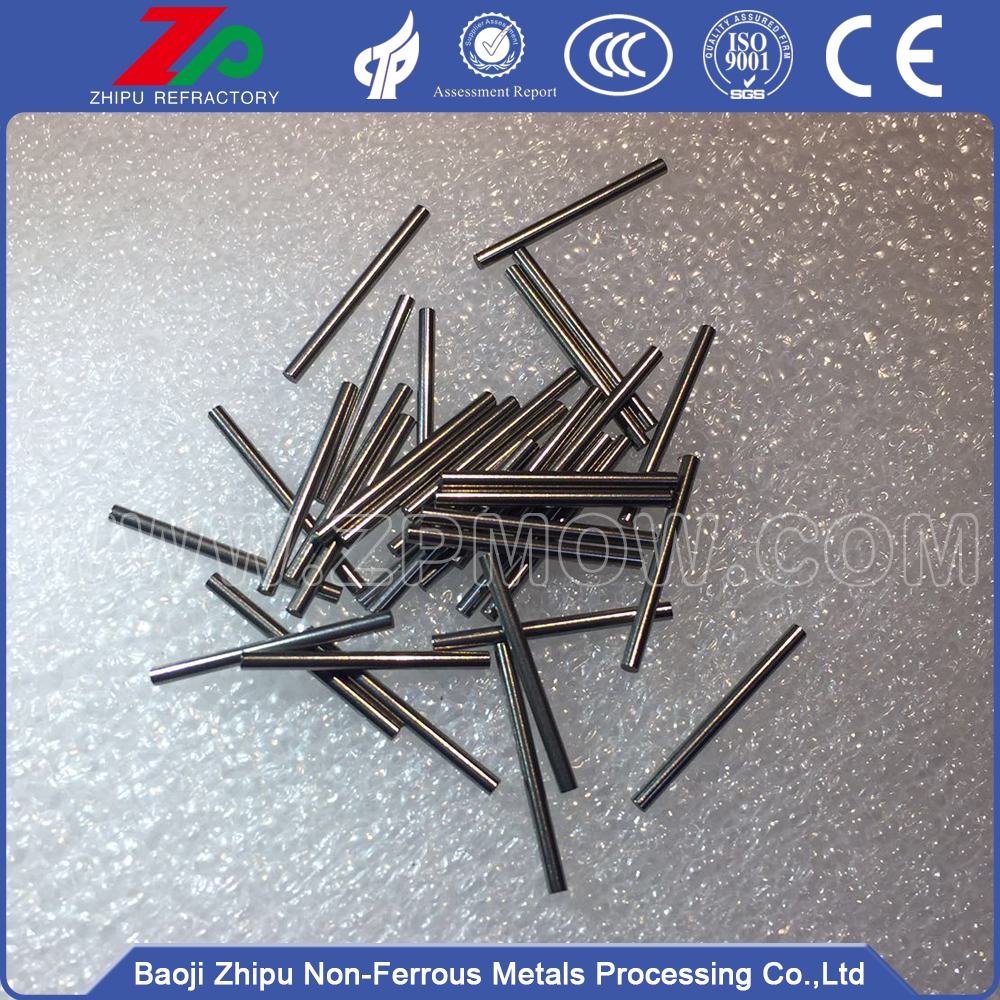 Sintered polished solid molybdenum carbide needles