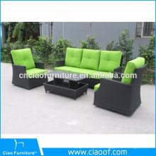 Mobília de venda quente verde do jardim do Rattan do lazer