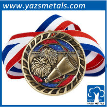 customize metal medals, custom high quality cheer medal with ribbon medals