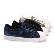 Zapatos de mujer ocio PU zapatos con suela de cuerda Snc-55011