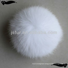 Wholesale white 10cm fox fur balls for hats