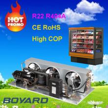 R22 r404a compresseur de refroidissement unité de condenseur pour vrais réfrigérateurs commerciaux unités de réfrigération d'occasion pour camions