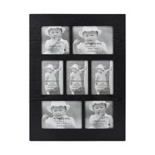 Marco de apertura múltiple negro con 9 imágenes