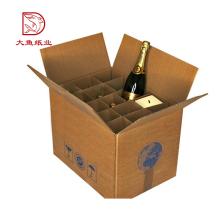 Professionnel personnalisé fait à la mode papier impression personnalisée carton boîte de vin 12 bouteille