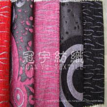 Sofá del Chenille tejido hilado teñido de textiles para el hogar