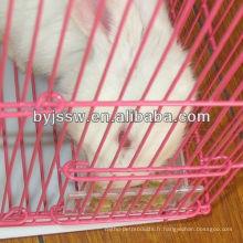 Cage à lapins portable avec plateau en plastique